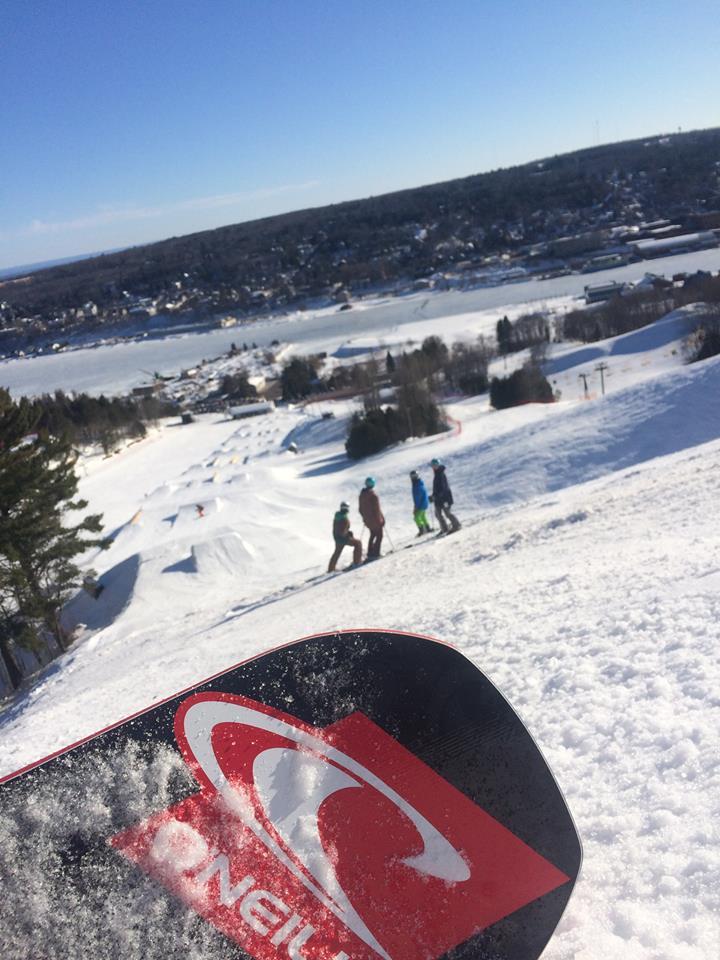 Hey! You can still snowboard! It is still winter in the U.P.